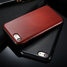 FLOVEME Business Leather Case For iPhone 7 Phone Cases Crazy Horse Pattern Cover For iPhone 7 Plus Case Shockproof Coque