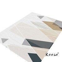 Reese Geometric Area Rug High-resolution Print Carpet For Living Room Bedroom Diningroom Hotel Outdoor Anti Slip Bottom Washable