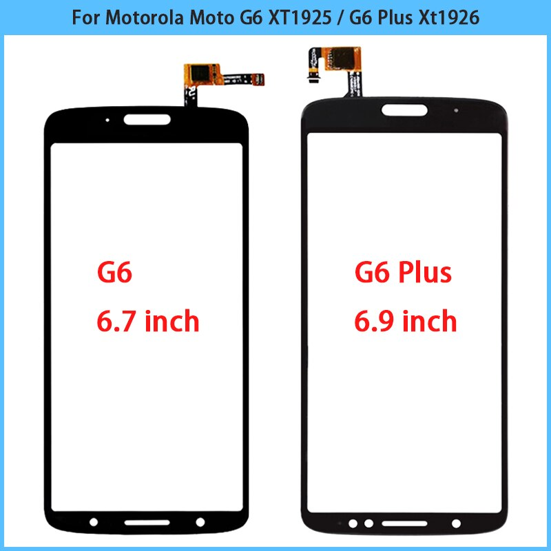 10 Uds nueva pantalla táctil para Motorola Moto G6 XT1925 / G6 más Xt1926 Touch Sensor de Panel de pantalla digitalizador LCD frontal de vidrio reemplazar