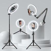 FIJ Selfie טבעת אור צילום אור Led שפה של מנורת עם נייד מחזיק גדול חצובה Stand עבור Youtube RGB Tok ringlight