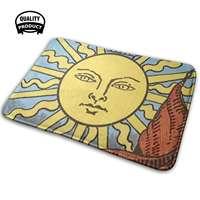 Tarot - The Sun Soft House Family Anti-Slip Mat Rug Carpet Tarot Witch Pagan Wicca Astrology Tarot Magic The Sun Hippie Psychic