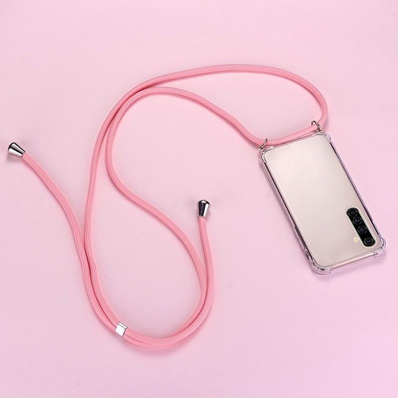 Funda de teléfono de silicona con cordón de lujo para Realme, 8, 7, 6, 5, 5i, 3, 2, X50, XT, X2, X Lite Pro, C3, C2, ultrafina