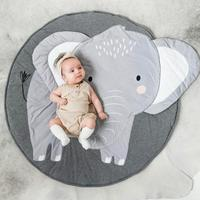 Children's Mat Baby Play Mat Carpet Creative Dlephant Cat Round Cotton Animal Playmat Newborn Crawling Blanket Baby Floor Mat