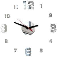 2020 New 3D DIY Wall Clock Acrylic Mirror Wall Stickers Living Room Quartz Needle Europe horloge Home Decoration reloj de pared