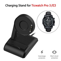 TicWatch Pro 3/Pro 3 용 충전기 크래들 도크 Ticwatch E3 S E C2 E2 S2 GTX USB 마그네틱 어댑터 용 GPS/Pro 3 LTE 충전 케이블