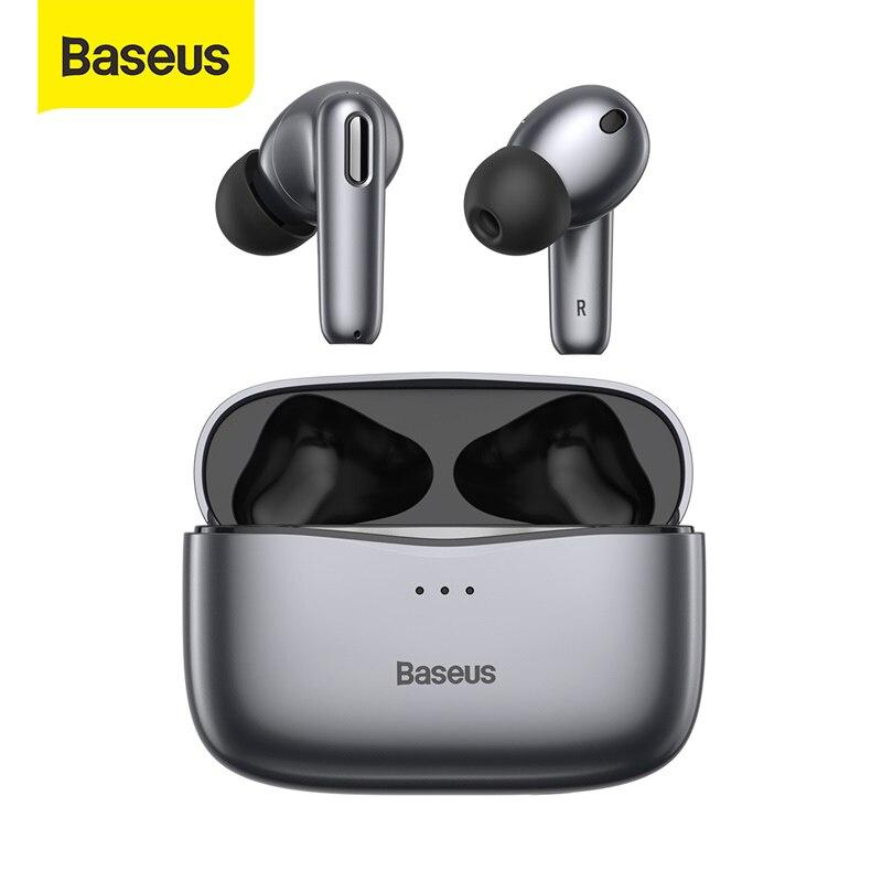 Baseus-auriculares inalámbricos S2 ANC con Bluetooth 5,0, dispositivo de Audio con cancelación activa de ruido, TWS, Hi-Fi, para videojuegos y Control táctil
