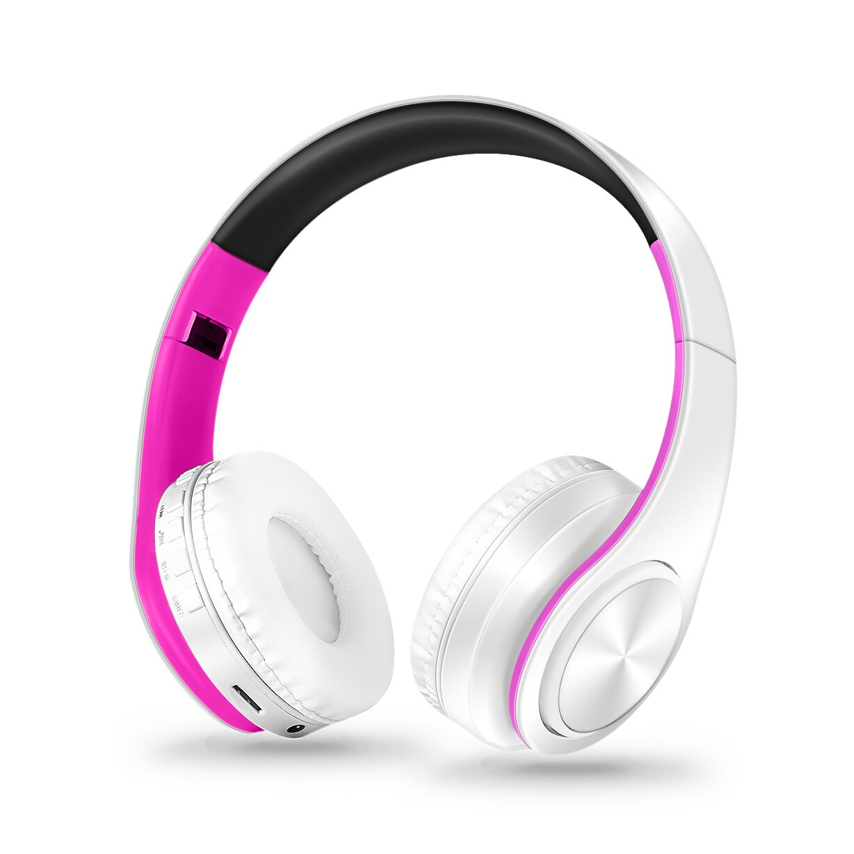 Auriculares plegables estéreo con bluetooth, auriculares inalámbricos, auriculares deportivos con micrófono, reproductor mp3 manos libres