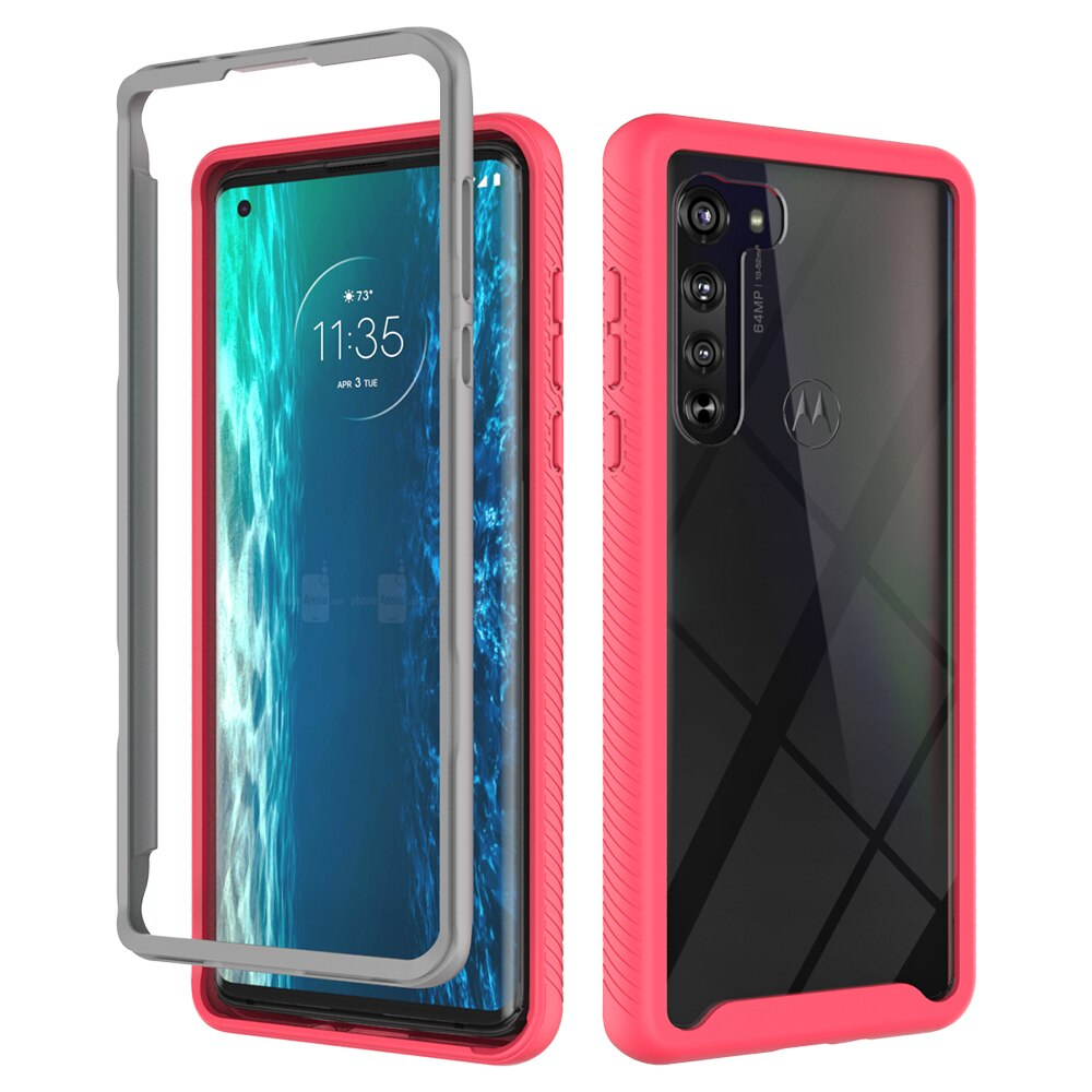 Funda de teléfono para Motorola Edge One Fusion, Marco de Acción Hyper Zoom One Vision P40 Plus, protección anticaídas para PC