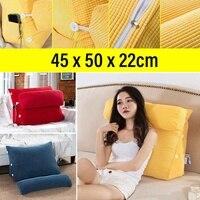 45cm מיטת קריאת לנוח גב כרית משולש כרית ספת כרית מיטת משרד כיסא סלון המותני כרית בית תפאורה