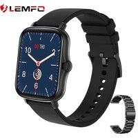 LEMFO 스마트 워치 2021 Y20 Smartwatch 남성 여성 안드로이드 IOS 1.7 인치 풀 터치 스크린 심장 박동 모니터 PK P8 플러스