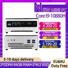 2021 neue Mini-Computer Intel Core i9 10880H i7 10750H 2 * DDR4 2 * M.2 Barebone PC NUC Windows 10 TV BOX 2 * Lan Dual Band AC WIFI