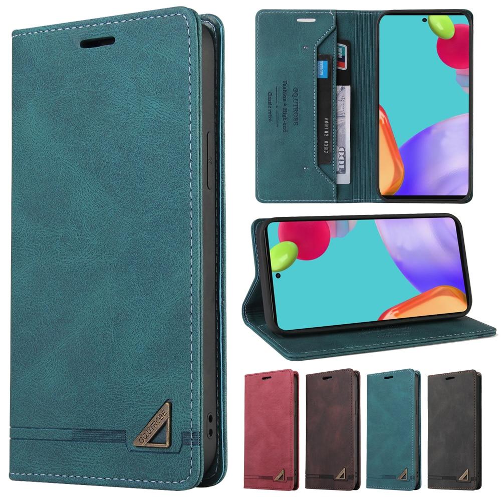 Cartera de cuero caso para Samsung Galaxy A82 A72 A71 A70 A52 A51 A50 A41 A32 A31 A21 A20E A12 A11 A10 A02S A01 cubierta de la caja del teléfono
