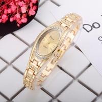 Rose Gold Women's Elegant Bracelet Fashion Watches Luxury Watch Women Designer Brand Famous Oval Quartz Wristwatches Relógio