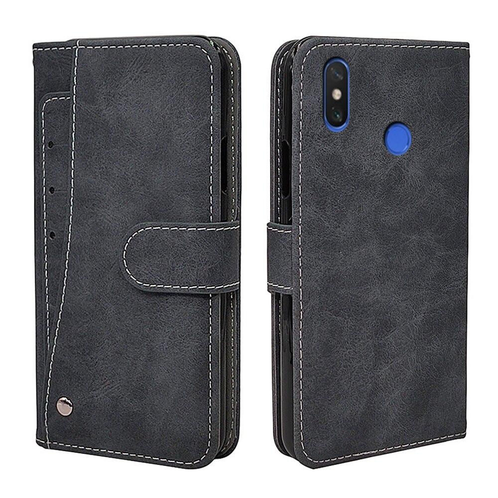 De Lujo funda Vintage para Xiaomi Mi Max 2 3 Flip de cuero de la cartera de negocios Fundas tarjeta Solts