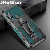 עמיד הלם חזרה קליפ טלפון מקרה עבור מוטורולה MOTO אחד Hyper מגנטי רכב מחזיק Kickstand מגן כיסוי עבור MOTO אחד Fusion