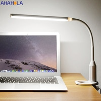 5V פלקסו Led שולחן מנורת USB שולחן מנורות עם קליפ סלון מנורת Stand שולחן אור עבור תלמיד קריאת ספר לאמפה לשכת