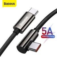 Baseus PD 100W USB C Kabel 5A Schnelle Lade Ladegerät Kabel Datum Kabel Für Xiaomi Samsung Huawei Typ C datum Kabel Für Tablet