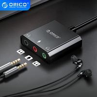 ORICO Externe Soundkarte USB zu 3,5mm Jack Audio Interface Mikrofon Lautsprecher Computer Headset Soundkarte Für PS4 PC Laptop