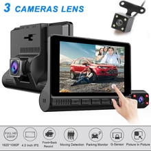 4 ''Touch Screen Dash Cam 3 Kamera Objektiv Auto DVR HD 1080P Auto Digital Video Recorder Dashcam Vorne rückansicht G-Sensor Auto DVRs