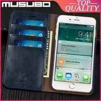 Musubo本革ケースiphone se 2020 8 プラス 7 プラス 6 6s x xs最大fundaフリップ高級カバーケースカードスロット財布ケーシング