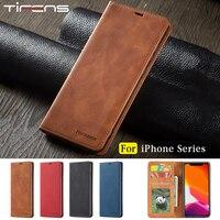 IPhone用磁気フラップウォレットケース,モデル13 12 mini 11 pro xs max xr x se 2020 8 7 6s plus 5s