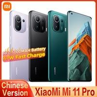CN Version Xiaomi Mi 11 Pro 5G Smartphone 8GB + 128GB Snapdragon 888 AMOLED Voll Bildschirm 67W schnelle Ladegerät NFC 5000mAh Batterie