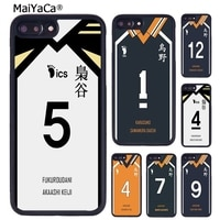 MaiYaCa Haikyuu!! Karasuno – coque de téléphone en Jersey Shoyo Hinata, pour iPhone X XR XS 11 12 Pro MAX 5 6 6S 7 8 Plus Samsung S7 S8 S9 S10