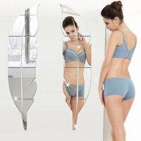 이동식 3D DIY 거울 벽 스티커 깃털 거울 벽 스티커 데칼 아트 비닐 룸 장식