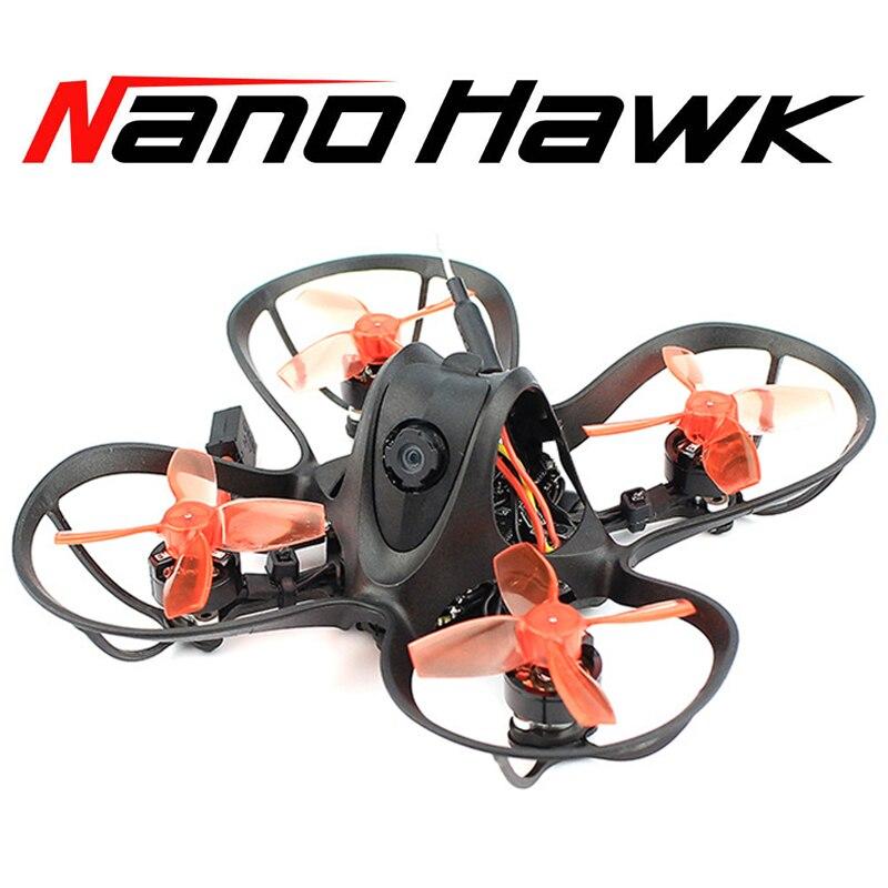EMAX Nanohawk BNF PNP 65mm 1S Whoop FPV principiante interior Racing Drone BNF FrSky D8 Runcam Nano3 25mw VTX 5A Rc avión
