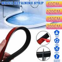 60~200cm Silicone Water Stopper Blocker Shower Dam Non-slip Dry And Wet Separation Flood Barrier Door Bottom Sealing Strip