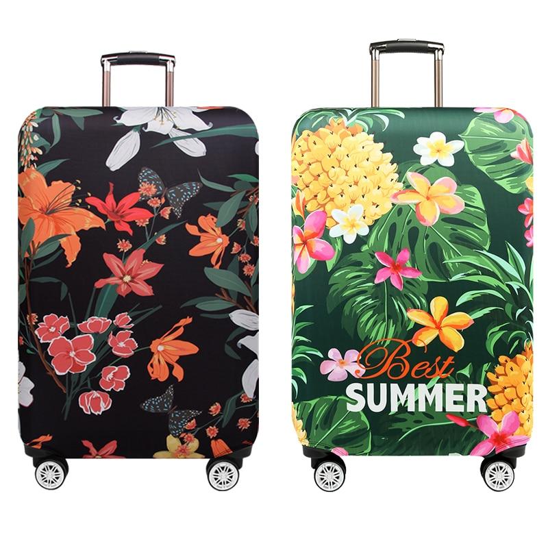 Schmetterling Liebe Blume Koffer Abdeckung Tropical Ananas Dicke Elastische Reise Gepäck Schutzhülle Für 18