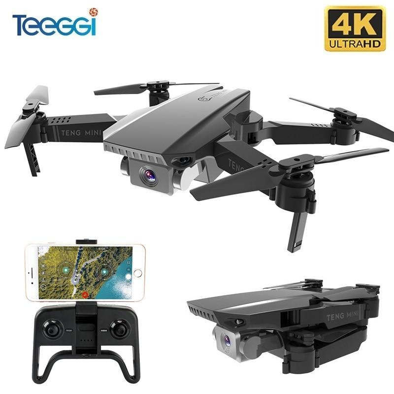 Teeggi-Dron plegable con cámara 4K HD para niños, Mini cuadricóptero con WiFi, FPV, Selfie, VS SG106 SG107 E68 E58