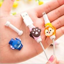 100pcs Cartoon Kabel Protector für iphone Saver USB Lade Daten Linie Schutzhülle Ärmeln Kabel Winer für iPhone 5s 6s Ipad mini