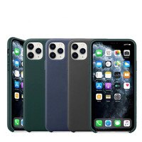 Geniune-iPhone 12 pro max用の革製保護ケース,オリジナルの公式保護カバー,iPhone 11 pro x xr xs max 12