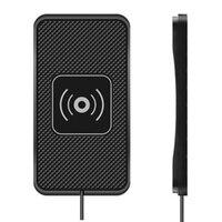 Drahtlose Auto Ladegerät, 10W Qi Schnelle Lade Nicht-Slip Stoßfest Silikon Pad Matte Telefon Halter Halterung für iPhone 12 /12 Pro