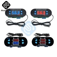 XH-W1308 Dual LED Digital Adjustable DC 12V AC 110V-220V Cool Heat Sensor Red Blue Temperature Controller Temp Thermostat Switch