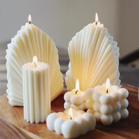 Moule à bougie de luxe en forme de coquille de corail, 3D arôme, artisanat, cire de soja, en Silicone, décoration de maison parfumée, nouvelle collection