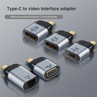 USB C To HDMI 호환 Dp 미니 Dp Vga 어댑터 USB 유형 C HDMI 케이블 4 k컨버터 삼성, 화웨이 P30 무료 배송