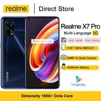 Realme X7 Pro 5G handys 6.55 ''FHD + Dimensity 1000 Plus Octa Core NFC Smartphones 64MP Hinten kamera 4500mAh 8GB RAM