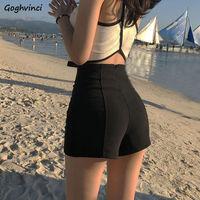 Shorts Women High Waist Solid Shaped Summer Korean Style All-match Ins Sexy Slim Hot Short Streetwear Harajuku Ulzzang New