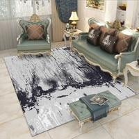 Alibaba Hot Sale Modern Art Soft Colorful Geometric Carpet Rug For Livingroom Bedroom Parlor Non-slip Antifouling Factory Supply