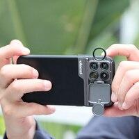 Ulanzi U-עדשת 3 ב 1 עדשת טלפון מקרה ערכת עבור iPhone 11 20X סופר מאקרו עדשת CPL Fisheye עדשת טלה עבור iPhone 11