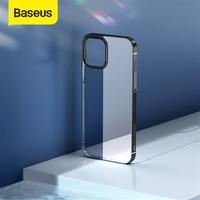 IPhone 12 Pro 용 Baseus 전화 케이스 Max 12Max 투명 도금 Clear Case Coque iPhone 12Pro Max 용 얇은 소프트 TPU 뒷면 커버