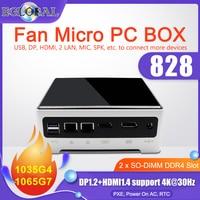 Eglobal 11th Gen Mini PC Gaming Computer Intel i7 1165G7 2 * DDR4 2 * M.2 SSD 2 * LAN desktop Nuc Windows 11 4K TV Box HD DP 2 * Display