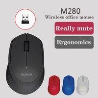 Logitech m280 mouse sem fio, 2,4 ghz com receptor nano usb, rastreamento óptico de 1000 dpi, 3 botões, bateria de 18 m