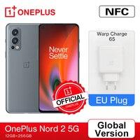 Globale Version OnePlus Nord 2 5G Smartphone EU 12GB 256GB 50MP AI Triple Kamera OIS Warp Ladung 65 90Hz Flüssigkeit AMOLED Display