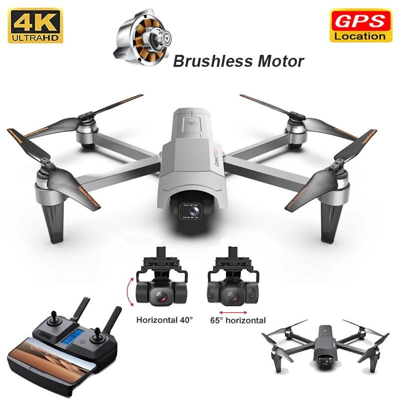 Icámara 1-Dron 4K HD profesional, cámara RC plegable Quadcopter Drones 5G WiFi FPV 2 ejes cardán Rc helicóptero Vs F11 Pro