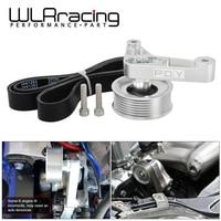 Wlr-ajustável ep3 polia kit para honda 8th civic todos os motores k20 & k24 com tensor automático manter a/c instalado WLR-CPY01