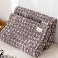 Latex Pillow Cases Strip Plaid Soft Memory Foam Pillowcases Neck Memory Cushion Cover 40*60cm/30*50cm