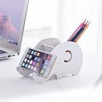 1pc עט מחזיק טלפון נייד מחזיק להסרה אחסון תיבת עיפרון multi-פונקצית שולחן העבודה תיבת אחסון משרד Kawaii מכתבים